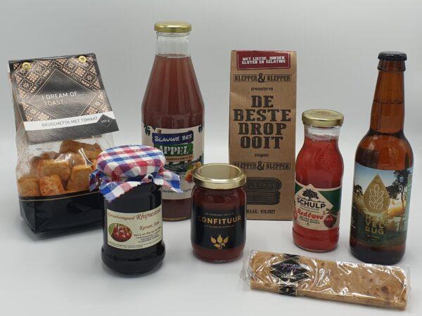 Streekproducten-pakket-voor-ieder-wat-wils, nougat, redlove sap, streekbier, streekjam, de beste drop ooit