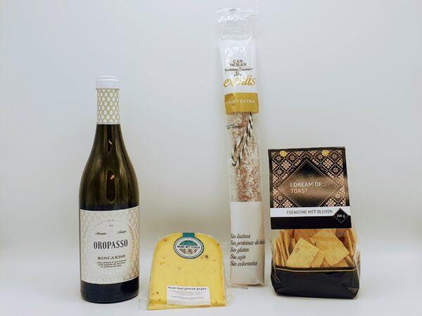 Virtuele borrelpakket witte wijn